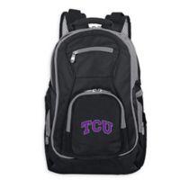 Texas Christian University Laptop Backpack in Black