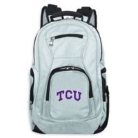 Texas Christian University Laptop Backpack Grey