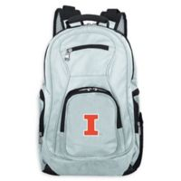 University of Illinois Laptop Backpack in Grey