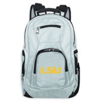 Louisiana State University Laptop Backpack in Grey