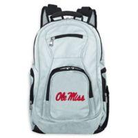 University of Mississippi Laptop Backpack in Grey