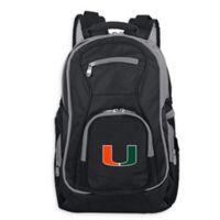 University of Miami Laptop Backpack in Black