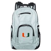 University of Miami Laptop Backpack in Grey