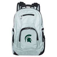 Michigan State University Laptop Backpack in Grey