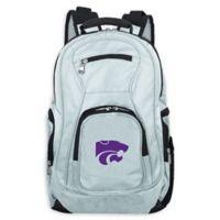 Kansas State University Laptop Backpack in Grey