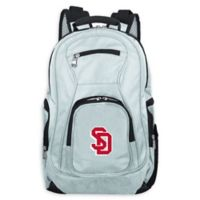 University of South Dakota Laptop Backpack in Grey