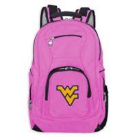 West Virginia University Laptop Backpack in Pink