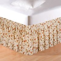 Amelia Floral Twin Bed Skirt in Creme