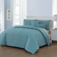 Del Ray 9-Piece King Comforter Set in Blue/Taupe