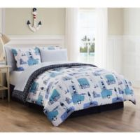 Stone Harbor Reversible 8-Piece King Comforter Set in Blue