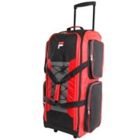 FILA Large Check-In Rolling Duffel Bag in Red