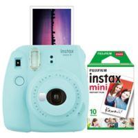 Fujifilm Instax 9 Mini Camera Bundle in Ice Blue