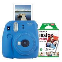 Fujifilm Instax 9 Mini Camera Bundle in Cobalt Blue