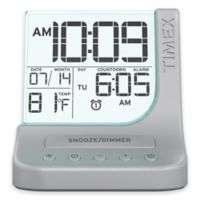 Timex® Color Changing Dual Alarm Clock in Silver