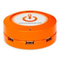 The ChargeHub X3 3-Port USB Super Charger in Orange