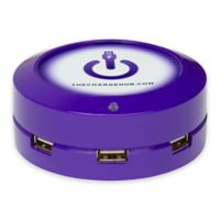 The ChargeHub X3 3-Port USB Super Charger in Purple