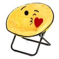Kissy Emoji Upholstered Saucer Kid's Chair