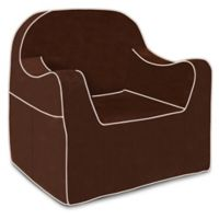 P'kolino® Reader Chair with White Piping in Brown