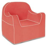 P'kolino® Reader Chair with White Piping in Coral