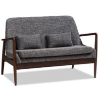 Baxton Studio® Upholstered Medium Firm Loveseat in Grey
