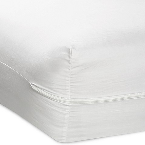 zippered mattress cover with ultra fresh treatment - bed bath & beyond