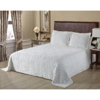 Wedding Ring Chenille Full Bedspread in White