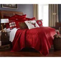 Levtex Home Velvet Twin Quilt Set in Red