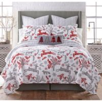 Levtex Home Winterland Reversible Twin Quilt Set in Red/Grey