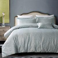 Hotel Royal Bloom 4-Piece Full/Queen Comforter Set in Silver Grey