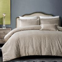 Hotel Royal Bloom 4-Piece King Comforter Set in Taupe