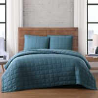 Brooklyn Loom Winston Full/Queen Quilt Set in Green
