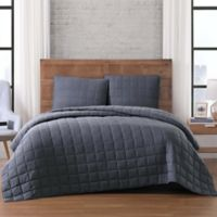 Brooklyn Loom Winston Full/Queen Quilt Set in Grey