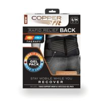 Copper Fit® Size Small/Medium Rapid Relief Back Support in Black
