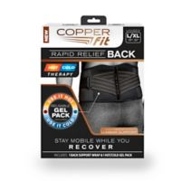 Copper Fit® Size Small/eMedium Rapid Relief Back Support in Black