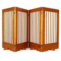 Cardinal Gates 4-Panel Freestanding Pet Gate in Oak