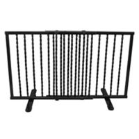 Cardinal Gates Step-Over Wrought Iron Pet Gate in Black