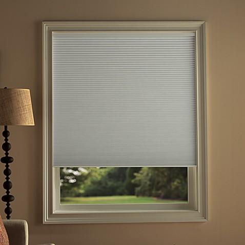 Kirsch honeycomb room darkening window shades in snow Room darkening blinds