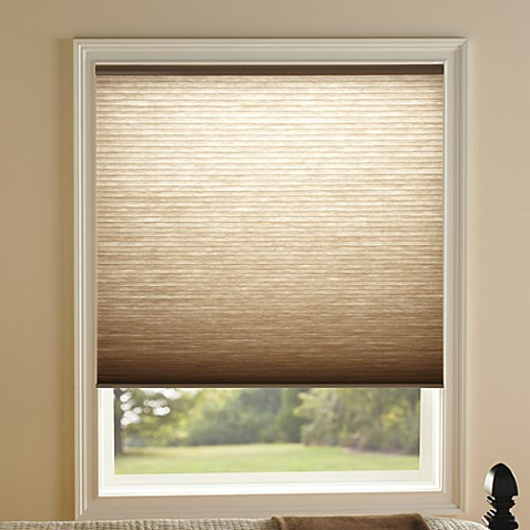 kirsch honeycomb toffee light filtering window shades 85727