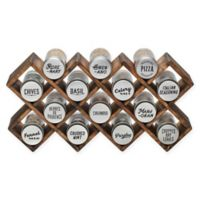 Kamenstein® 14-Jar Wood Criss-Cross Spice Rack in Grey