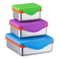 Bruntmor™ 3-Piece Stainless Steel Food Container Set with Snapping Lids