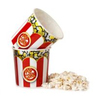 Wabash Valley Farms Striped Popcorn Tub in Red/White (Set of 2)