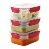 Joseph Joseph® Nest Lock™ 6-Piece 37 oz. Food Storage Set in Red