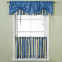 Versa-Tie® Lisa Stripe 24-Inch Window Curtain Tiers