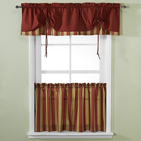 Versa Tie 174 Lisa Stripe Window Curtain Tiers Bed Bath