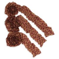 9-Foot Check Garland in Red/Tan (Set of 3)