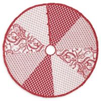 50-Inch Natalia Christmas Tree Skirt in Red/White