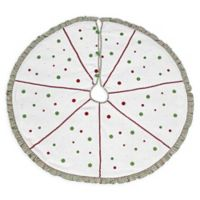 VHC Brands Whimsical Christmas Tree Skirt in White