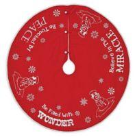 VHC Brands 48-Inch Winter Wonderment Christmas Tree Skirt in Red/White