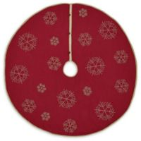 VHC Brands Revelry Christmas Tree Skirt in Red/Tan