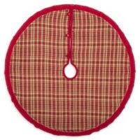 VHC Brands Claren Christmas Tree Skirt in Red/Green